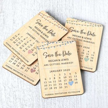 Wooden Calendar Magnetic Save The Dates