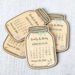 Wooden Jar Save The Date Magnets